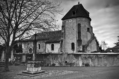 Old french church. Ancient Royalty Free Stock Photos