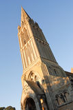 Old French church. In Bernieres-sur-mer royalty free stock image