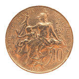 Old French coin Stock Images