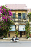 French colonial house in kampot cambodia Royalty Free Stock Images