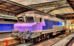 Old French diesel locomotive at Paris-Est HDR Stock Image