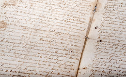 Old French documents Royalty Free Stock Photo
