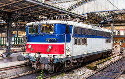 Old French electric locomotive at Paris-Est Stock Images