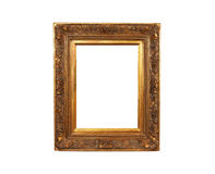 Old french gold painted wood frame Royalty Free Stock Image