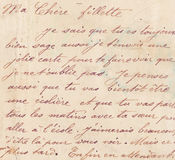 Old french handwriting Stock Photos