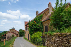 Old French house in Burgundy Royalty Free Stock Photo