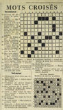 Old French Journal crossword Royalty Free Stock Images