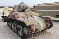 Old French light tank Stock Image