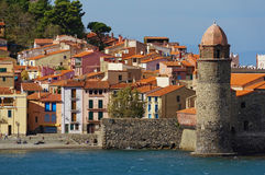 Old French Mediterranean village of Collioure Royalty Free Stock Photography