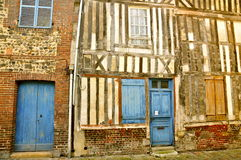 Old French Patchwork House royalty free stock photography