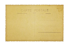 Old french postcard, isolated on white Royalty Free Stock Images