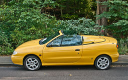 Old French Renault Megane convertible car parked Stock Photography