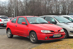 Old French Renault Megane coupe car parked Royalty Free Stock Image