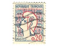 Old french stamp Royalty Free Stock Images