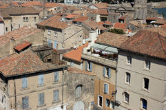 Old french town Arles. View over the houses in Arles, southern France Stock Photo