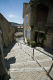 Old French town stairs Stock Photos