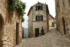 Old French Village. Bakery at crossroads in old french village in Provence Stock Images