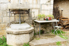 Old French well Stock Images