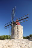 Old French windmill Royalty Free Stock Photography