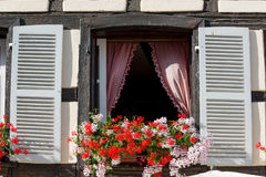Old French window Stock Photos