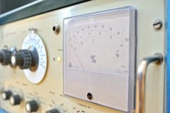 Old frequency generator Royalty Free Stock Photography