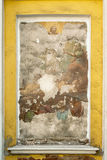 Old fresco on the christian Cchurch wall. Russia Royalty Free Stock Images