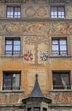 Old fresco on medieval building in Lucern, Switzerland Stock Photo