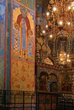 Old fresco in Orthodox church Stock Photography