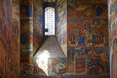 Old fresco in Orthodox church Royalty Free Stock Photography
