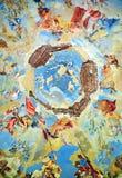 Old Fresco in Ruin of Summerhouse in Milešov. Czech republic Stock Images