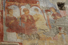 Old fresco on the wall of St.Nicholas church, Demre Stock Photos