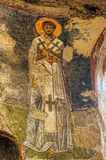 Old fresco on the wall of St.Nicholas church, Demre Stock Image