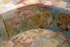 Old fresco on the wall of St.Nicholas church, Demre Royalty Free Stock Image