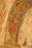 Old fresco on the wall of St.Nicholas church, Demre Stock Photography