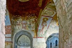An Old fresco on the wall of St Nicholas church, Demre Royalty Free Stock Images