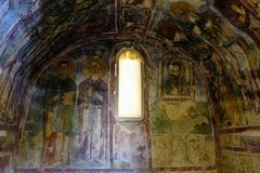 An Old fresco on the wall of St Nicholas church, Demre Stock Images
