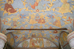 Old frescoes in Kirillo-Belozersky monastery. Stock Photography