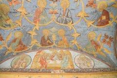 Old frescoes in Kirillo-Belozersky monastery. Royalty Free Stock Photo