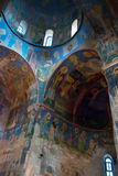 Old frescoes in Russian church Stock Image