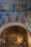 Old frescoes in Russian church Stock Photo