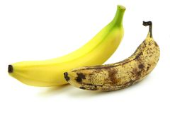 Old and fresh banana Royalty Free Stock Photos