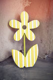 Old fretwork flower decoration. Leaning in an edge Stock Photo