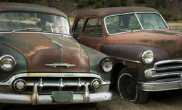 Old Friends Rusting at the Junkyard FOR SALE stock photos