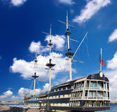 Old  frigate  in  moorage  St.Petersburg Royalty Free Stock Image