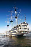 Old frigate in moorage St.Petersburg, Russia. Royalty Free Stock Photography