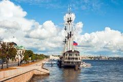 Old frigate on Neva Royalty Free Stock Image