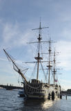 Old frigate in St.Petersburg. Royalty Free Stock Photos