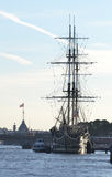 Old frigate in St.Petersburg. Royalty Free Stock Image