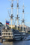 Old frigate in St.Petersburg, Russia. Royalty Free Stock Photography