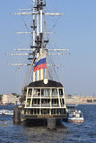 Old frigate in St.Petersburg. Royalty Free Stock Images